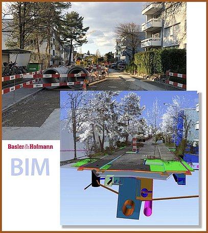 BIM-Pilotprojekt mit VESTRA | Verwendung des Bildmaterials mit freundlicher Genehmigung der Basler & Hofmann AG